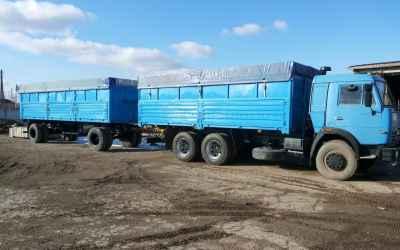 Перевозка зерна Камаз зерновоз бортовой с прицепом - Астрахань
