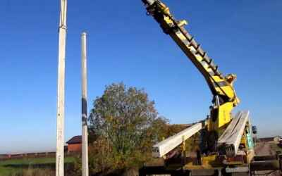 Монтаж опор линий электропередач, услуги бурояма - Астрахань, цены, предложения специалистов