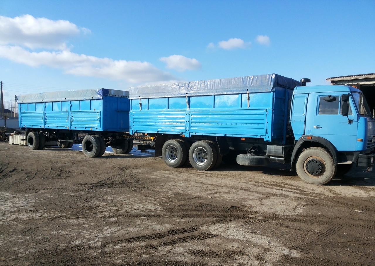 Перевозка зерна Камаз зерновоз бортовой с прицепом - Астрахань, цены, предложения специалистов