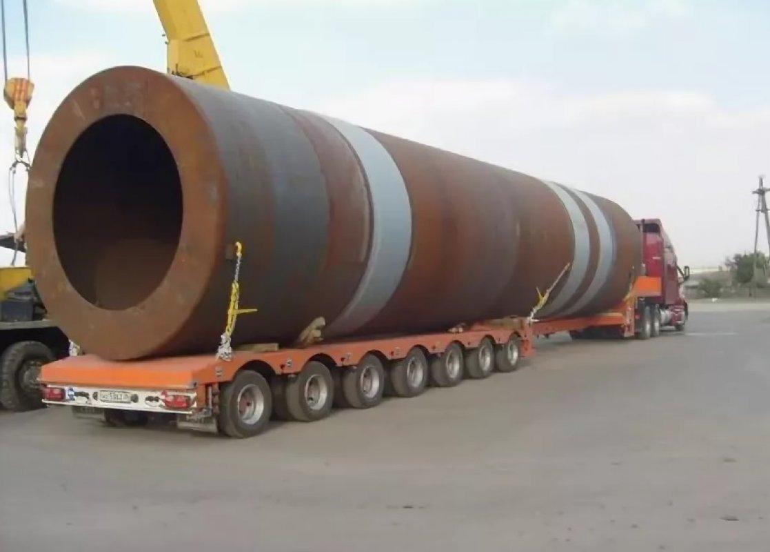 Перевозка труб больших диаметров тралами и площадками - Астрахань, цены, предложения специалистов